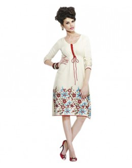 Party Wear Georgette White Kurti - 70554