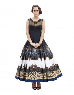 Eid Special Party Wear Black Bhagalpuri Gown - 70592
