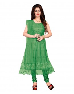 Ethnic Wear Green Net Anarkali Suit - EBSFSK09101HH