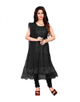 Casual Wear Black Net Anarkali Suit - EBSFSK09101JJ