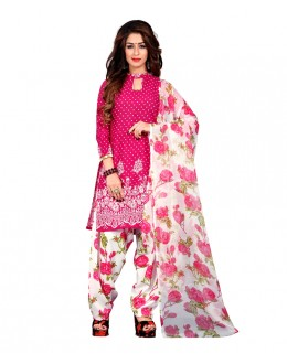 Festival Wear Pink Art Silk Patiyala Suit - 70737