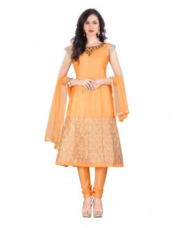 Party Wear Orange Banglori Anarkali Suit - 70767