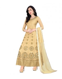 Festival Wear Beige Net Anarkali Suit - 70774