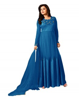 Eid Special Blue Net Anarkali Suit -  70605