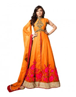 Eid Special Orange Bhagalpuri Anarkali Suit -  70613