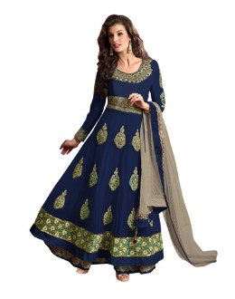 Eid Special Blue Net Anarkali Suit -  70615