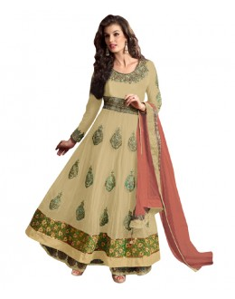 Eid Special Cream Net Anarkali Suit -  70618