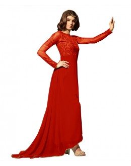 Eid Special Red Georgette Anarkali Suit -  70632
