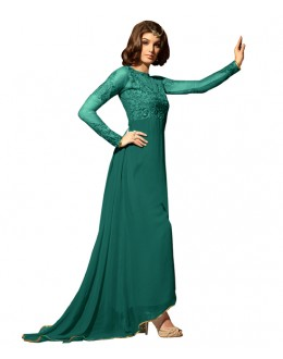 Eid Special Green Georgette Anarkali Suit -  70633
