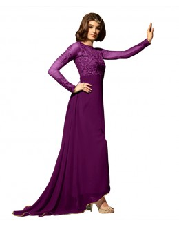 Eid Special Purple Georgette Anarkali Suit -  70634