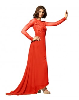 Eid Special Peach Georgette Anarkali Suit -  70635
