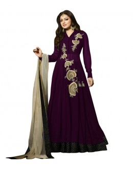 Eid Special Purple Georgette Anarkali Suit - 70639