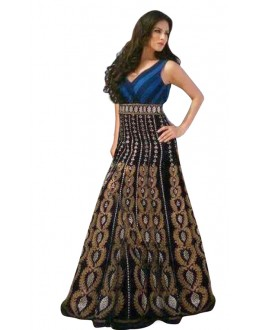 Bollywood Replica - Designer Navy Blue Gown - 70696