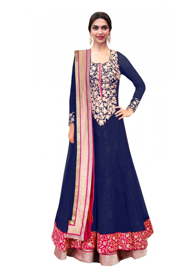 Bollywood Replica - Party Wear Blue Anarkali Suit - 70747-B