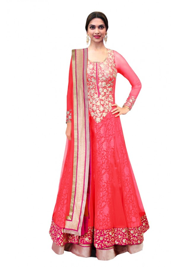 Bollywood Replica - Traditional Pink Anarkali Suit - 70747-C