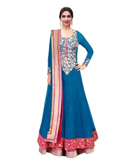 Bollywood Replica - Designer Sky Blue Anarkali Suit - 70747-D