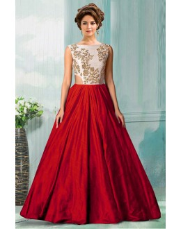 Bollywood Replica - Designer Red Tat Silk Gown - 70750A