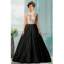 Bollywood Replica - Party Wear Black Tat Silk Gown - 70750B