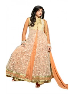 Ethnic Wear Orange Georgette Anarkali Suit  - 70959