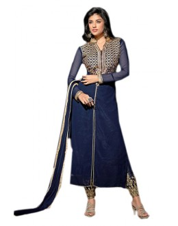 Festival Wear Blue Georgette Salwar Suit  - 70964