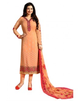 Ayesha Takia In Orange Georgette Salwar Suit  - 70974