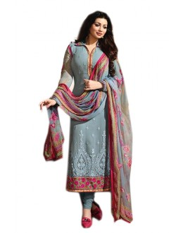 Ayesha Takia In Grey Georgette Salwar Suit  - 70975