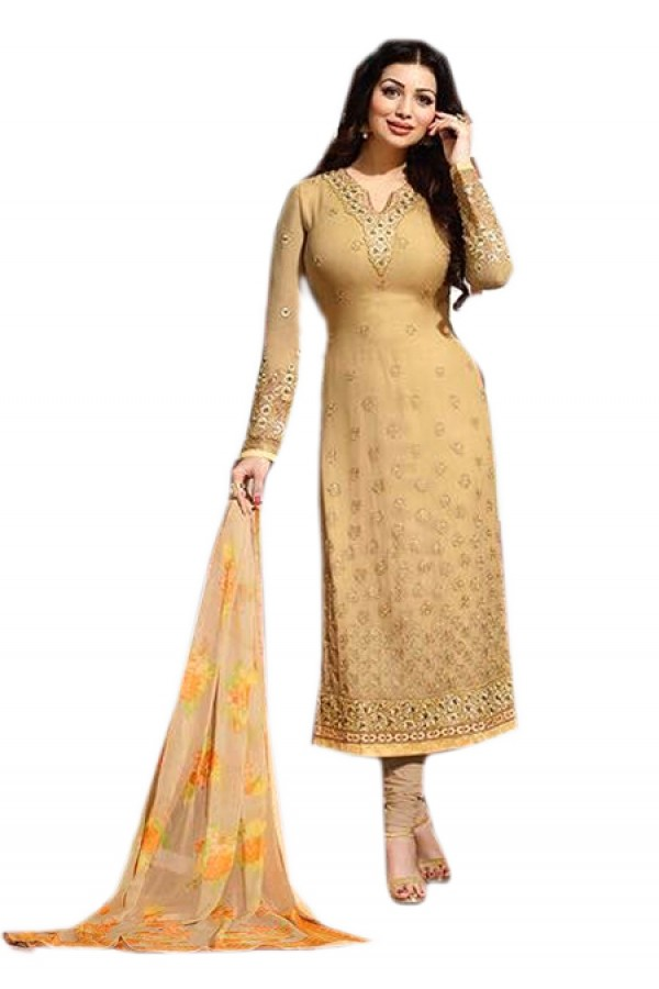 Ayesha Takia In Chickoo Georgette Salwar Suit  - 70976