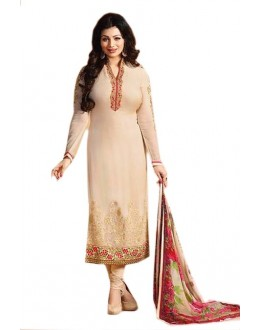 Ayesha Takia In Cream Georgette Salwar Suit  - 70978