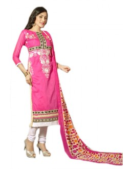 Festival Wear Pink & White Chanderi Salwar Suit  - 70984