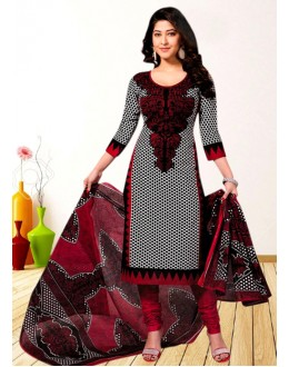 Casual Wear Black American Crepe Salwar Suit  - 70759