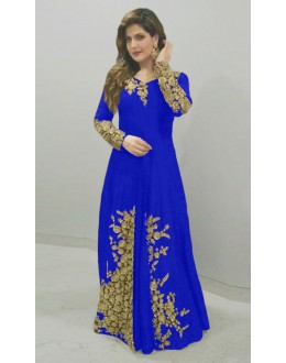 Bollywood Replica - Zareen Khan In Blue Anarkali Suit - 70763B