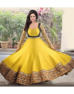Bollywood Replica - Festival Wear Yellow Anarkali Suit - 70764