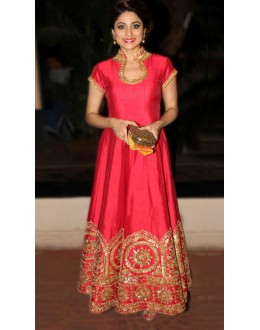 Bollywood Replica - Shamita Shetty In Pink Anarkali Suit - 70765