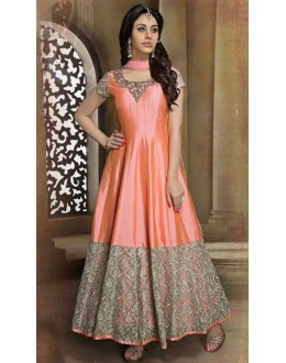 Bollywood Replica - Festival Wear Orange & Pink Anarkali Suit - 70767