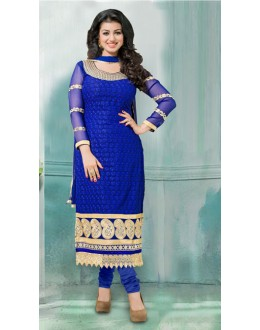 Ethnic Wear Blue Georgette Churidar Suit  - 70791