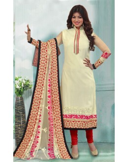 Ayesha Takia In Cream & Red Georgette Salwar Suit  - 70851