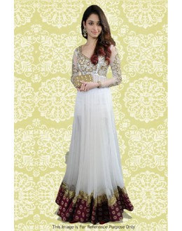 Bollywood Replica - Tamanna Bhatia In White Anarkali Suit - 70871