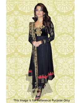 Bollywood Replica - Aishwarya Rai In Black Anarkali Suit - 70873