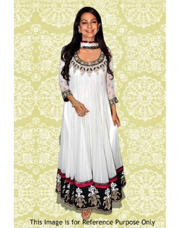 Bollywood Replica - Juhi chawla In White Anarkali Suit - 70880