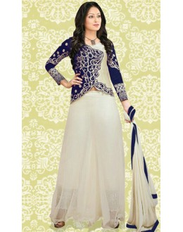 Party Wear Blue & Cream 60 GM Salwar Suit - 70889A