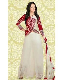 Designer Red & Cream 60 GM Salwar Suit  -70889B