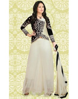 Fancy Black & Cream 60 GM Salwar Suit  -70889C