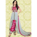 Fabcy Pink & Grey 60 GM Salwar Suit  - 70890A