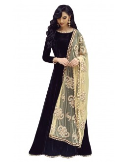 Bollywood Replica - Party Wear Black & Cream Anarkali Suit - 70918