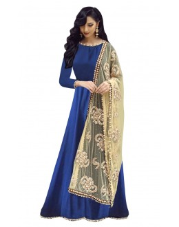 Bollywood Replica - Ethnic Wear Blue & Cream Anarkali Suit - 70919