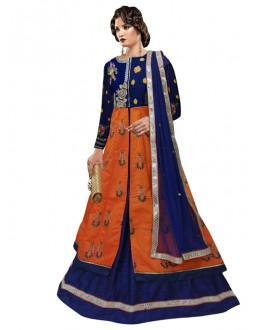 Bollywood Replica - Ethnic Wear Blue Indo Western Suit - 70940A