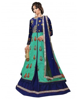 Bollywood Replica - Party Wear Blue Indo Western Suit - 70940B