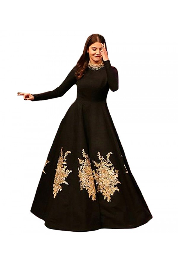 Bollywood Replica - Party Wear Black Gown - 70941