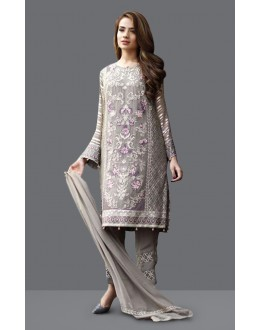 Ethnic Wear Grey Georgette Salwar Suit  - 71004