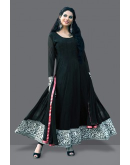 Ethnic Wear Black Georgette Anarkali Suit  - 71008